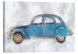Canvas print  Oldtimer - blue - LoRo-Art