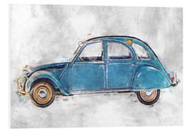 Foam board print  Oldtimer - blue - LoRo-Art