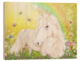 Wood print  Unicorn of Happiness - Dolphins DreamDesign