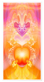 Premium poster  Spirit Love - I follow my loving heart - Dolphins DreamDesign