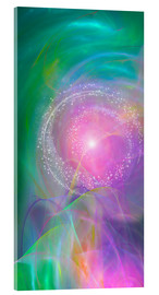 Acrylic glass  Spirit Love - I am open to the divine power - Dolphins DreamDesign