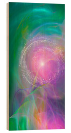 Wood print  Spirit Love - I am open to the divine power - Dolphins DreamDesign