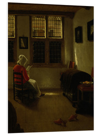 Foam board print  Woman Reading. - Pieter Janssens Elinga