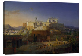 Canvas print  The Acropolis of Athens, 1846 - Leo von Klenze