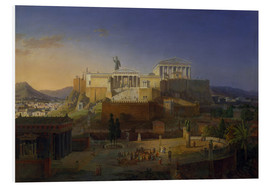 Foam board print  The Acropolis of Athens, 1846 - Leo von Klenze