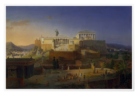Premium poster  The Acropolis of Athens, 1846 - Leo von Klenze
