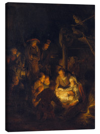 Canvas print  Adoration of the Shepherds. 1646 - Rembrandt van Rijn