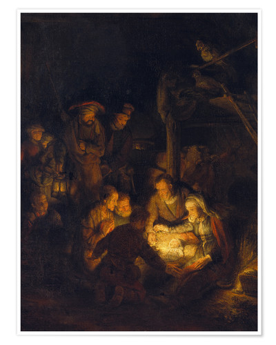 Premium poster Adoration of the Shepherds. 1646