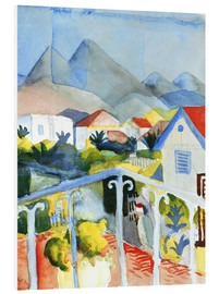 Foam board print  Saint Germain near Tunis - August Macke