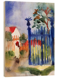 Wood print  Garden Gate - August Macke