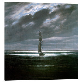 Acrylic print  Seascape in the Moonlight - Caspar David Friedrich