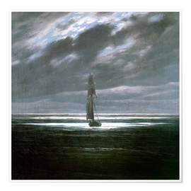 Poster  Seascape in the Moonlight - Caspar David Friedrich
