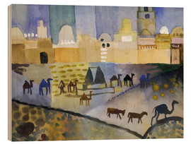 Wood print  Kairouan I - August Macke