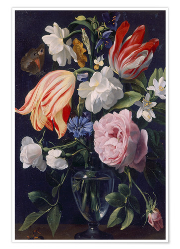 Premium poster Vase with flowers. 1637