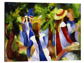 Alu-Dibond  Girls under trees - August Macke