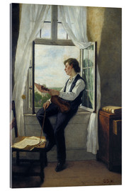 Acrylic print  The violinist at the window in 1861 - Otto Franz Scholderer