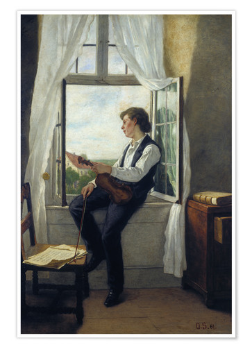 Premium poster The violinist at the window in 1861