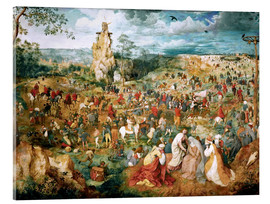 Acrylic glass  Christ Carrying the Cross - Pieter Brueghel d.Ä.