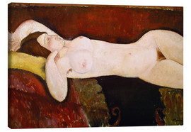 Canvas  Nude of a sleeping woman (Le Grand nu) 1917 - Amedeo Modigliani