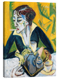 Canvas print  Erna with Cigarette - Ernst Ludwig Kirchner