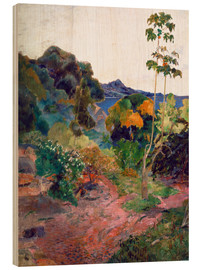 Wood  Coastal landscape on Martinique - Paul Gauguin