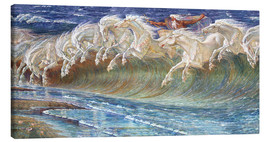 Canvas print  The Horses of Neptune - Walter Crane