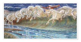 Poster  The Horses of Neptune - Walter Crane