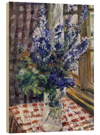Lovis Corinth - Glass vase with Larkspur. 1924