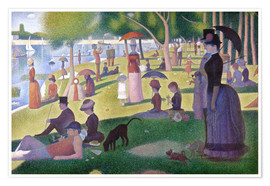 Premium poster  A sunday afternoon on the island of La Grande Jatte - Georges Seurat