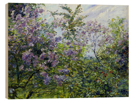 Wood print  Blossoming lilac. About 1921 - Max Slevogt