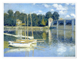 Premium poster  The Bridge at Argenteuil - Claude Monet