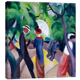 Canvas print  Promenade - August Macke