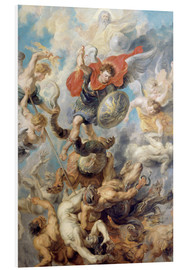 Foam board print  The Angelic Cloak - Peter Paul Rubens