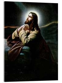 Acrylic print  Christ on the Mount of Olives. Nazarene of romanticism.