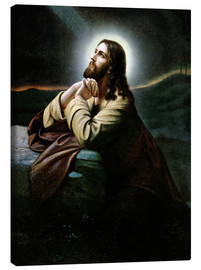 Canvas print  Christ on the Mount of Olives. Nazarene of romanticism.
