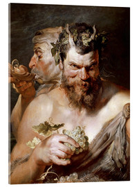 Acrylic print  Two Satyrs - Peter Paul Rubens