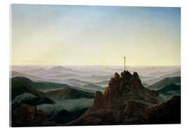 Acrylic print  Morning in the Giant Mountains - Caspar David Friedrich