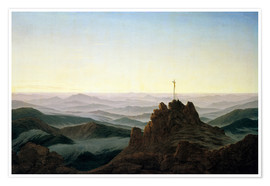 Premium poster  Morning in the Giant Mountains - Caspar David Friedrich