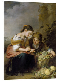 Acrylic glass  The Little Fruit Seller - Bartolome Esteban Murillo