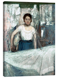 Canvas print  The Woman Ironing - Edgar Degas