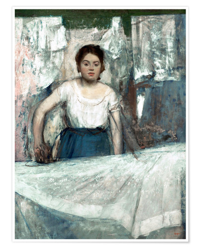 Premium poster The Woman Ironing