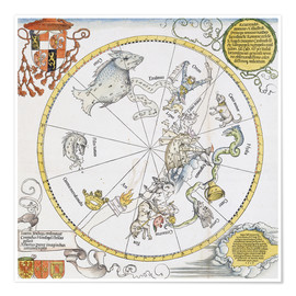 Premium poster Map of the Southern Sky. 1515