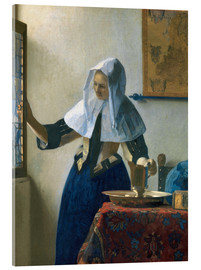 Jan Vermeer - Young woman with a water jug by the window
