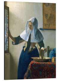 Aluminium print  Young woman with a water jug by the window - Jan Vermeer