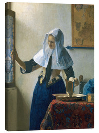 Canvas print  Young woman with a water jug by the window - Jan Vermeer