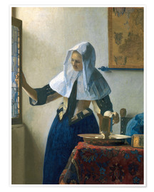 Poster  Young woman with a water jug by the window - Jan Vermeer