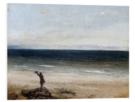 Foam board print  The coast at Palavas - Gustave Courbet