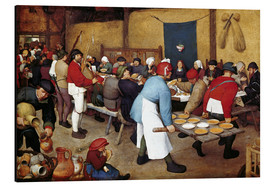 Aluminium print  Country wedding - Pieter Brueghel d.Ä.