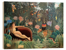 Wood print  The dream - Henri Rousseau