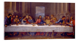Acrylic print  The Last Supper, after Leonardo da Vinci - Nicolas Poussin